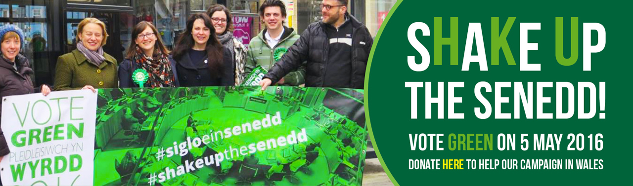Shake up the Senedd! Vote Green on 5 May 2016